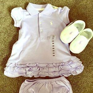 Ralph Lauren Matching Sets - Ralph Lauren polo dress and matching shoes!!